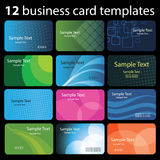 Set of Colorful Business Card Backgrounds Stock Photography