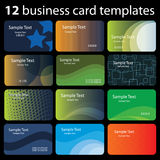 Set of Colorful Business Card Backgrounds Royalty Free Stock Photography