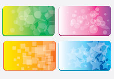 Set of colorful business cards Stock Image