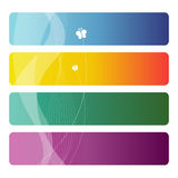 Set of colorful business cards Royalty Free Stock Image