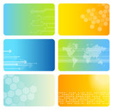 Set of colorful business cards Stock Images