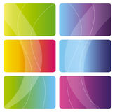 Set of colorful business cards. Abstract design - backgrounds for Business Stock Image