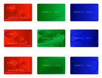 Set of colorful business cards Stock Photo