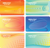 Set of colorful business cards Stock Photos