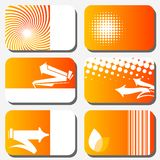 Set of colorful business cards Royalty Free Stock Images