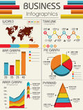 Set of colorful business infographic elements. Stock Photo
