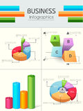 Set of colorful Business Infographics. Stock Photos