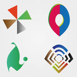 Set of colorful business logos Royalty Free Stock Images