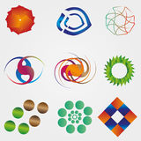 Set of colorful business logos. Collection of colorful business logos Royalty Free Stock Photography