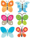 Set of colorful butterflies Royalty Free Stock Images