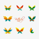 Set of colorful butterflies logos. Vector Stock Photography