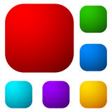 Set of colorful button, icon shapes, backgrounds. Royalty Free Stock Photo