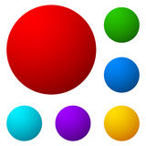 Set of colorful button, icon shapes, backgrounds. Royalty Free Stock Photography