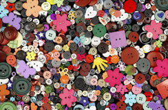 Set of colorful buttons Royalty Free Stock Images