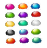 Set of colorful buttons Royalty Free Stock Photos