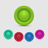Set of colorful buttons Stock Images
