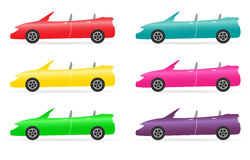 Set of  colorful cabriolet Stock Photo
