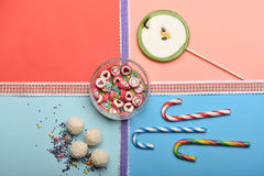 Set of colorful candies Royalty Free Stock Image