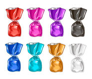 Set in colorful candy wrappers. Sweets Stock Photo