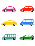 Set of colorful car Royalty Free Stock Photography