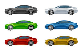 Set of colorful car Royalty Free Stock Image