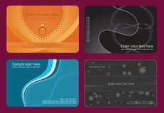 Set of colorful card Royalty Free Stock Photography