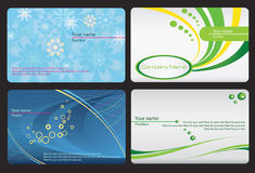 Set of colorful cards Royalty Free Stock Images