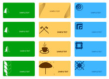 Set of colorful cards Royalty Free Stock Image