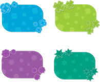 Set of colorful cards, vector illustration Royalty Free Stock Image