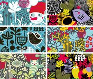 Set of colorful cards. Vector illustration Royalty Free Stock Image