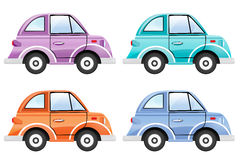 Set of colorful cars Stock Image
