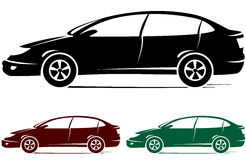 Set of colorful cars Royalty Free Stock Photos