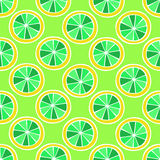 Set of colorful cartoon fruits lemon. Colorful Seamless Pattern. Stock Image