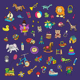 Set of colorful children's toys Royalty Free Stock Images