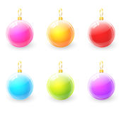Set of colorful christmas ball Stock Images