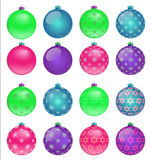 Set of colorful Christmas balls, illustration Royalty Free Stock Photography