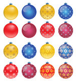 Set of colorful Christmas balls, illustration Royalty Free Stock Image