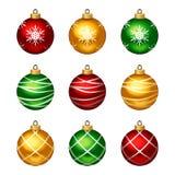 Set of colorful Christmas balls. Vector illustration. stock illustration