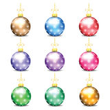 Set of colorful Christmas balls Stock Photo