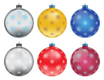 Set of colorful Christmas balls, illustration Royalty Free Stock Images