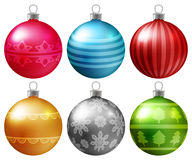 Set of colorful Christmas baubles Stock Photography