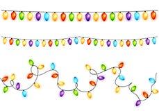 Set of colorful christmas bulbs Stock Photography