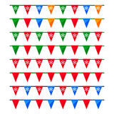 Set of colorful Christmas garlands with flags for use as brushes Royalty Free Stock Photos