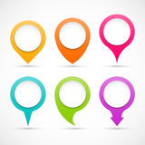 Set of colorful circle pointers Stock Images