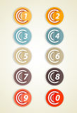 Set of colorful circles with numbers. Stock Photos