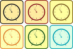 Set colorful clock Stock Image