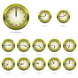 Set of colorful clock icon Stock Image