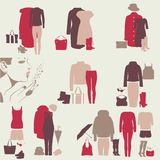 A set of colorful clothes for girls Royalty Free Stock Photos
