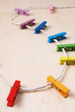 Set of colorful clothes pegs - Series 3 Stock Photography