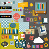 Set of colorful collage. Royalty Free Stock Image